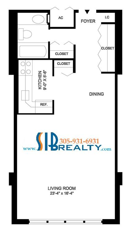 Winston towers condos for sale sib realty for 250 square foot apartment floor plan